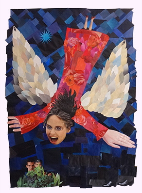 Poster by Rene, Collage of the Annunciation Angel